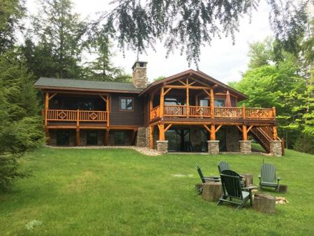Adirondack-Style Vacation Home - Front View