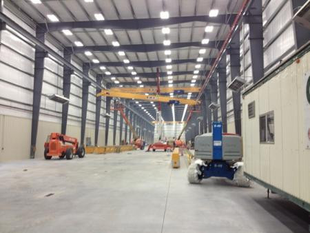 Feldmeier Equipment - 3rd of 6 Bridge Cranes Installed